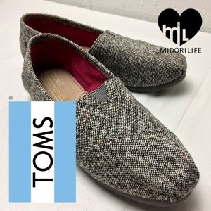 TOMS Classic Silver Karsen Tweed Flats